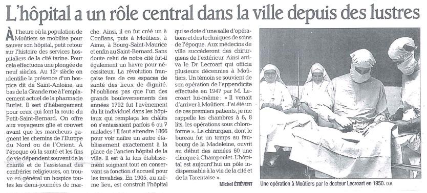 2013-04-14 - Le DL - L'hôpital a un rôle central dans la ville depuis des lustres