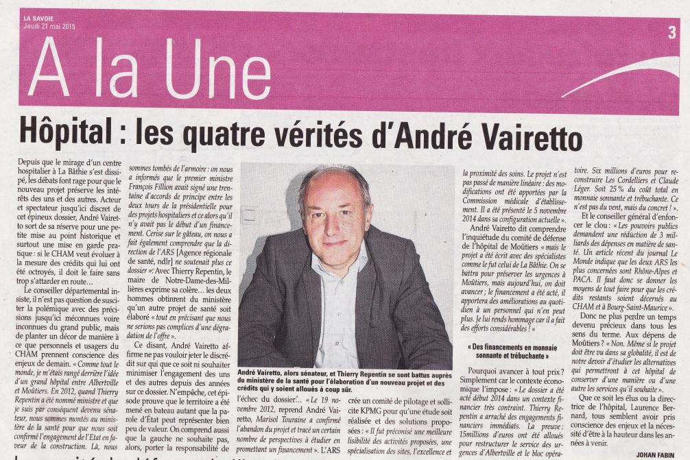 2015-05-21 - La Savoie - Les quatre vérités d'André Vairetto