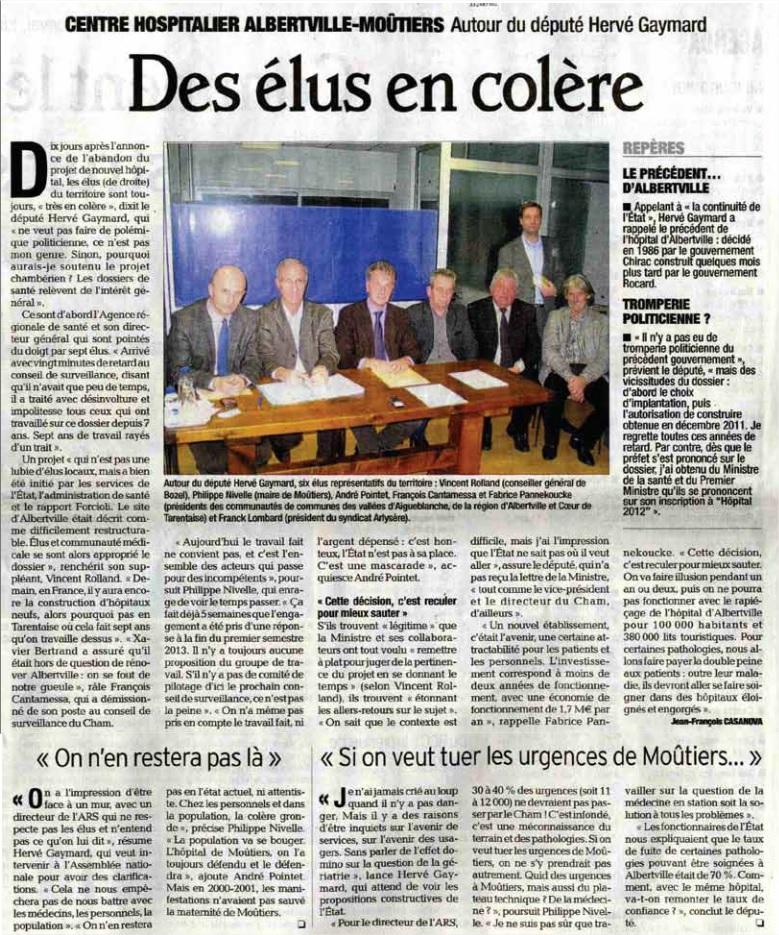 2012-11-25 - Le DL - Des élus en colère