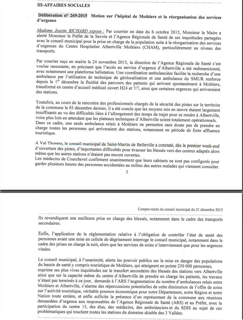 2015-12-21 - Le conseil municipal de Saint-Bon s'inquiète de la situation