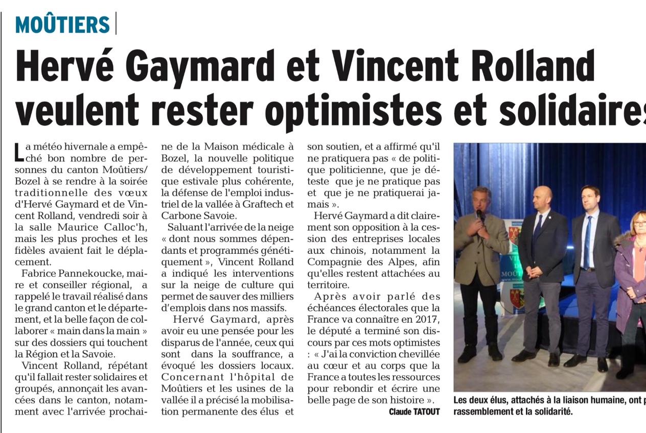 2017-01-17 - DL - Hervé Gaymard et Vincent Rolland veulent rester optimistes et solidaires