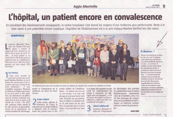 2017-02-02 - La Savoie - L'hôpital, un patient encore en convalescence. Et Moûtiers