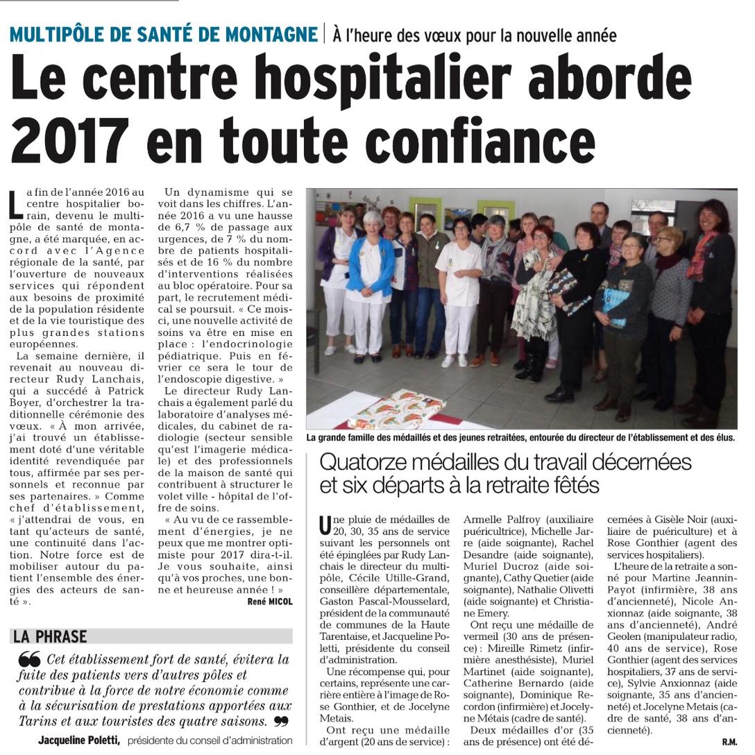 2017-02-02 - Le DL - Bourg-Saint-Maurice - Le centre hospitalier aborde 2017 en toute confiance