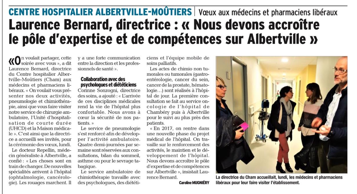 2017-02-02 - Le DL - CHAM - Nous devons accroitre le pole d'expertise et de compétences sur Albertville