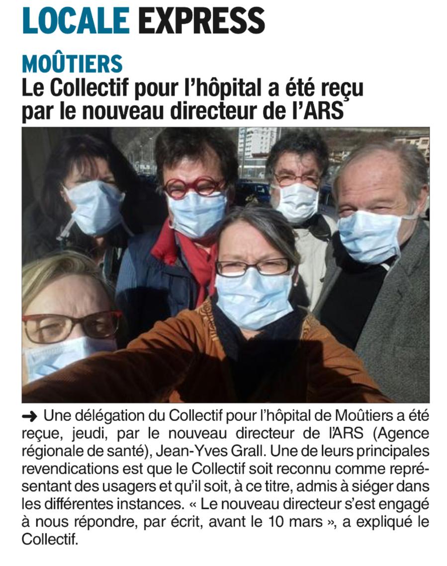 2017-02-22 - DL - Le Collectif pour l'hôpital a été reçu par le nouveau directeur de l'ARS