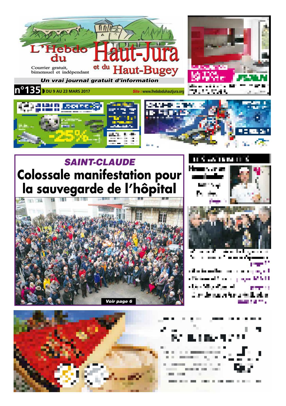 2017-03-09 - L'Hebdo du Haut Jura - Hôpital de Saint-Claude (page 1)
