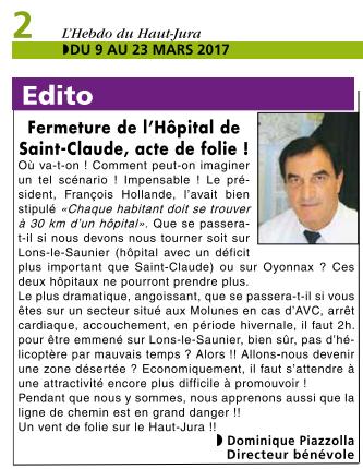 2017-03-09 - L'Hebdo du Haut Jura - Hôpital de Saint-Claude (page 2)