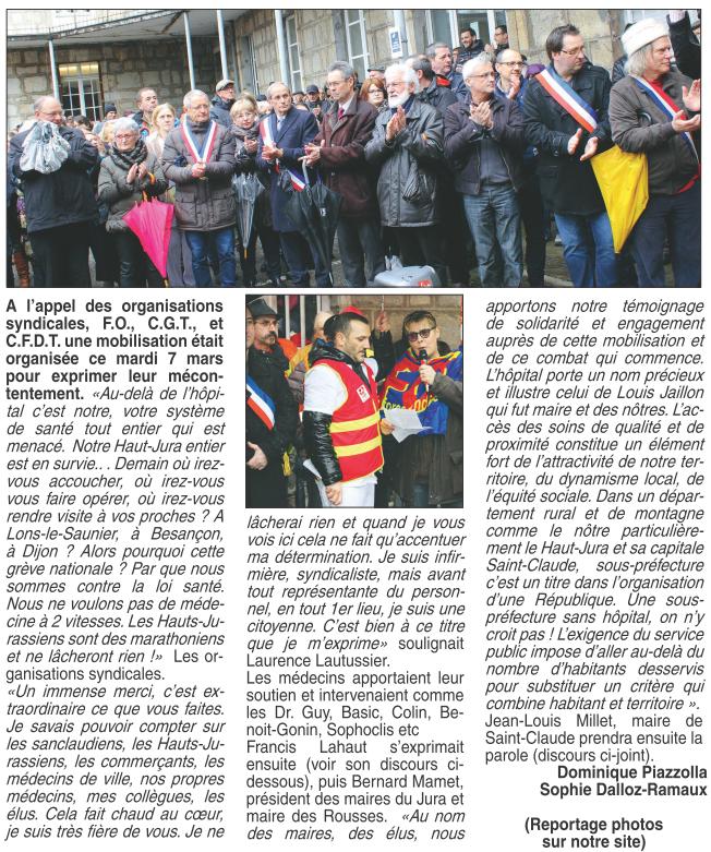 2017-03-09 - L'Hebdo du Haut Jura - Hôpital de Saint-Claude (page 6 - article 1)